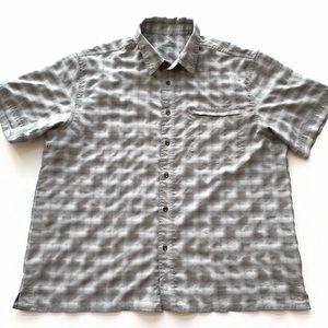 Eddie Bauer Hiking Shirt Top Button Front Mens
